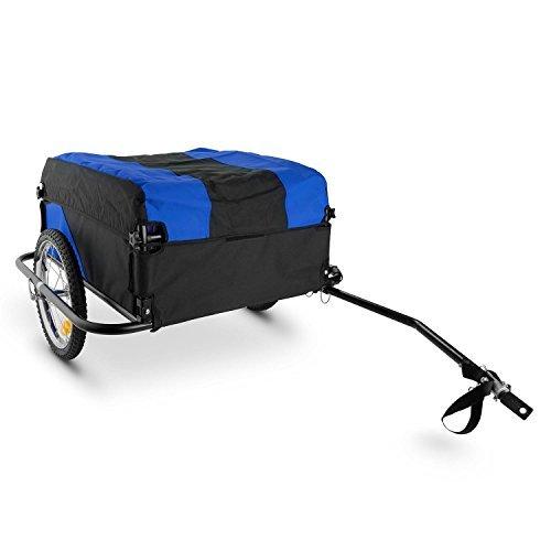 Duramaxx Mountee • Fahrradanhänger • Lastenanhänger • Handwagen • mit Hochdeichsel • Transportbox mit 130 Liter Volumen • Tragkraft: max. 60 kg • blau