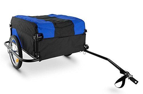 Duramaxx Mountee • Fahrradanhaenger • Lastenanhaenger • Handwagen • mit 500x330 - Duramaxx Mountee • Fahrradanhänger • Lastenanhänger • Handwagen • mit Hochdeichsel • Transportbox mit 130 Liter Volumen • Tragkraft: max. 60 kg • blau