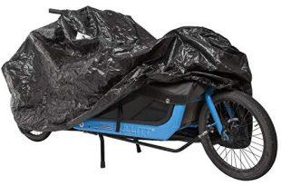 M Wave Unisex – Erwachsene Cargo Fahrradgarage extra einspurige Lastenraeder Fahrradschutz widerstandsfaehiges 310x205 - M-Wave Unisex– Erwachsene Cargo Fahrradgarage, extra, einspurige Lastenräder, Fahrradschutz, widerstandsfähiges Tarpaulin, Größe ca. 290x120x70 cm, schwarz