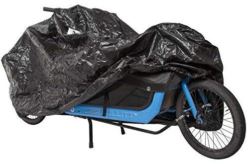 M Wave Unisex – Erwachsene Cargo Fahrradgarage extra einspurige Lastenraeder Fahrradschutz widerstandsfaehiges 500x330 - M-Wave Unisex– Erwachsene Cargo Fahrradgarage, extra, einspurige Lastenräder, Fahrradschutz, widerstandsfähiges Tarpaulin, Größe ca. 290x120x70 cm, schwarz